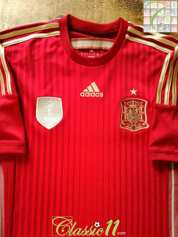 2013/14 Spain Home Football Shirt (M)