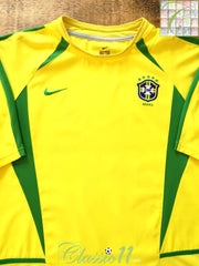 2002/03 Brazil Home Football Shirt (M)