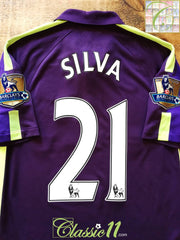 2014/15 Man City 3rd Premier League Football Shirt Silva #21 (S)