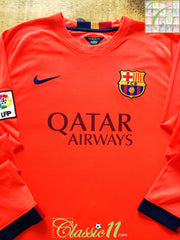2014/15 Barcelona Away La Liga Football Shirt. (XL)