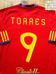 2009/10 Spain Home Football Shirt Torres #9 (M)