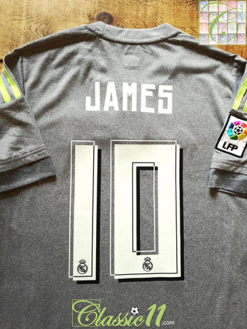2015/16 Real Madrid Away World Champions Football Shirt James #10 (S)