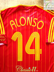 2006/07 Spain Home Football Shirt Alonso #14 (XL)