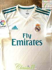 2017/18 Real Madrid Home Football Shirt (M)