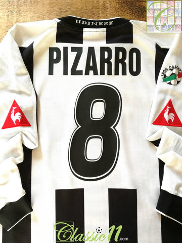2003/04 Udinese Home Serie A Football Shirt. Pizarro #8 (L)