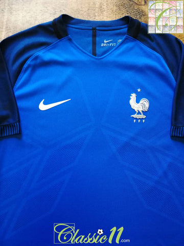 2016/17 France Home Player Issue Football Shirt (L)