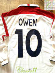 2003/04 England Home Football Shirt. Owen #10 (L)