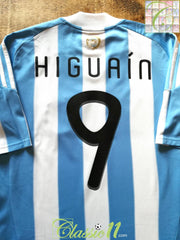 2010/11 Argentina Home Football Shirt Higuaín #9 (M)