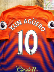 2016/17 Man City 3rd Premier League Aeroswift Football Shirt Agüero #10 (L)