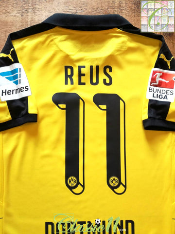 2015/16 Borussia Dortmund Home Bundesliga Football Shirt Reus #11 (M)