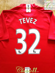 2007/08 Man Utd Home Premier League Football Shirt Tevez #32 (M)