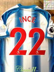 2017/18 Huddersfield Town Home Premier League Football Shirt Ince #22 (S)