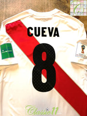 2018 Peru Home World Cup vs France Football Shirt Cueva #18 (M)