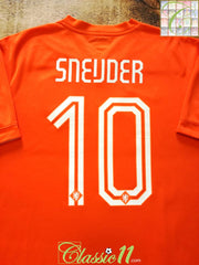 2014/15 Netherlands Home Football Shirt Sneijder #10 (L)