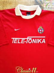 2000/01 Wisla Kraków Home Basic Football Shirt (XL)