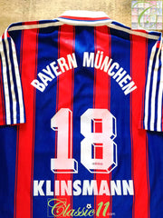 1995/96 Bayern Munich Home Football Shirt Klinsmann #18 (L)