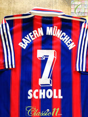 1995/96 Bayern Munich Home Football Shirt Scholl #7 (M)