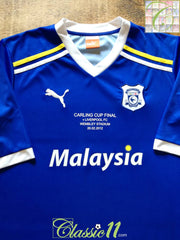 2012 Cardiff City Home Carling Cup Final Football Shirt (L)