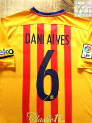 2015/16 Barcelona Away World Champions Player Issue Football Shirt Dani Alves #6 (L)