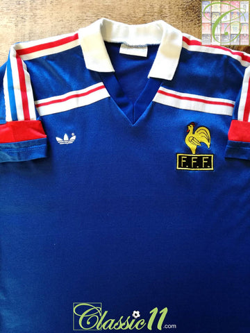 1985/86 France Home Football Shirt (M)