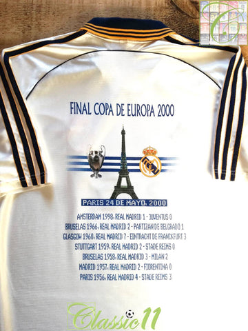 2000 Real Madrid 'Final Copa De Europa' Football Shirt (M)
