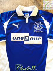 2000/01 Everton Home Football Shirt (XL)
