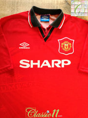 1994/95 Man Utd Home Football Shirt (M)