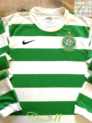 2007/08 Celtic Home Player Issue Football Shirt. (L)