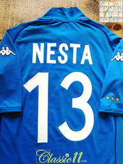 2002/03 Italy Home Football Shirt Nesta #13 (M)