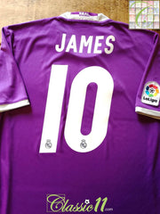 2016/17 Real Madrid Away La Liga Football Shirt James #10 (S)