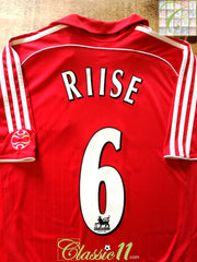 2006/07 Liverpool Home Premier League Football Shirt Riise #6 (L)