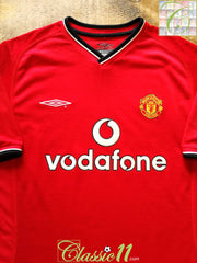 2000/01 Man Utd Home Football Shirt (Y)