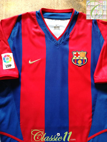 2002/03 Barcelona Home La Liga Football Shirt (S)