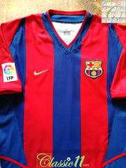 2002/03 Barcelona Home La Liga Football Shirt (M)
