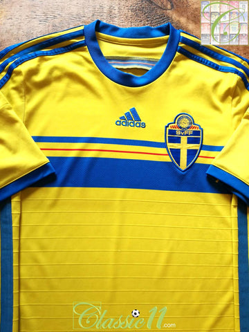 2014/15 Sweden Home Football Shirt (S)
