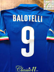 2014/15 Italy Home Football Balotelli #9 (Y)