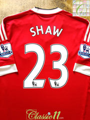 2015/16 Man Utd Home Premier League Football Shirt Shaw #23 (L)