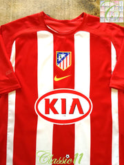 2005/06 Atlético Madrid Home Player Issue Football Shirt (L)