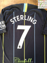 2018/19 Man City Away Premier League Player Issue Football Shirt Sterling #7 (L)