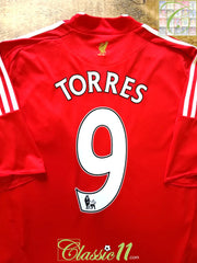 2008/09 Liverpool Home Premier League Football Shirt Torres #9 (XL)
