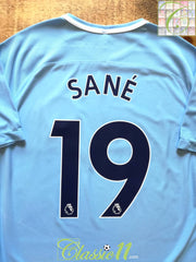 2017/18 Man City Home Premier League Aeroswift Football Shirt Sané #19 (L)