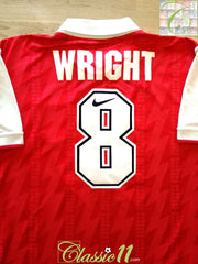 1994/95 Arsenal Home Football Shirt Wright #8 (L)