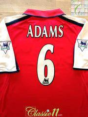2000/01 Arsenal Home premier League Football Shirt Adams #6 (L)
