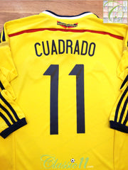 2014/15 Colombia Home Football Shirt. Cuadrado #11 (S)