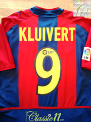 2002/03 Barcelona Home La Liga Football Shirt Kluivert #9 (M)