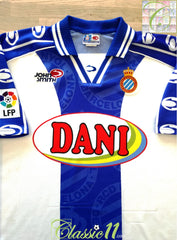 1999/00 Espanyol Home La Liga Football Shirt (XXL)