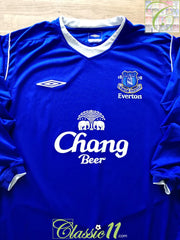 2004/05 Everton Home Football Shirt. (L)