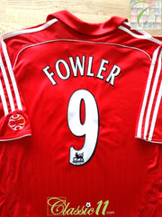 2006/07 Liverpool Home Premier League Football Shirt Fowler #9 (XL)