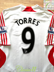 2007/08 Liverpool Away Premier League Football Shirt Torres #9 (XL)