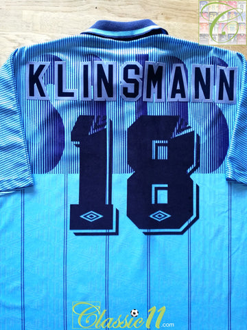 1991/92 Tottenham 3rd Football Shirt Klinsmann #18 (XL)